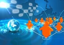 Het sociale netwerk van de technologie Stock Afbeelding