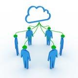 Het sociale netwerk van de wolk Stock Foto's