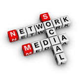 Het sociale Netwerk van Media Stock Foto