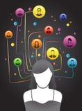 Het Sociale Netwerk van vrienden Stock Afbeelding