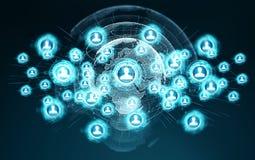 Het sociale netwerkinterface 3D teruggeven Royalty-vrije Stock Afbeelding