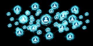 Het sociale netwerkinterface 3D teruggeven Royalty-vrije Stock Foto's
