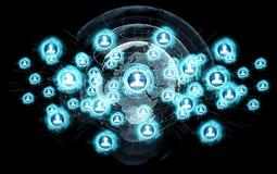Het sociale netwerkinterface 3D teruggeven Royalty-vrije Stock Afbeeldingen