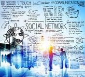 Het sociale Netwerkmedia Concept van de Technologieraad Stock Foto