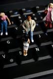 Het sociale networoking Stock Foto