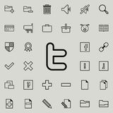 het sociale pictogram van het netwerkteken Gedetailleerde reeks minimalistic pictogrammen Premie grafisch ontwerp Één van de inza royalty-vrije illustratie