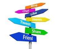 Het sociale Teken van het Netwerkweb Royalty-vrije Stock Foto's