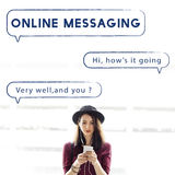 Het sociale van de de Bellentekst van de Netwerktoespraak Grafische Concept Stock Foto's