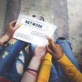 Het sociale van de de Bellentekst van de Netwerktoespraak Grafische Concept Royalty-vrije Stock Foto