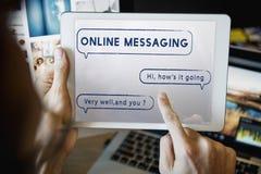 Het sociale van de de Bellentekst van de Netwerktoespraak Grafische Concept Stock Afbeelding