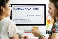 Het sociale van de de Bellentekst van de Netwerktoespraak Grafische Concept Royalty-vrije Stock Fotografie