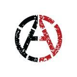 Het Socialistische Embleem van het anarchieatheïsme - Logotype vector illustratie