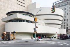 Het Solomon Guggenheim-museum in de Stad van New York stock afbeelding