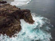 Het Southest-punt van Mauritius Afrika Indische Oceaan stock afbeeldingen