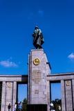 Het Sovjetoorlogsgedenkteken in Tiergarten in Berlin Germany Royalty-vrije Stock Fotografie