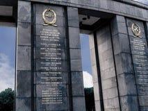 Het Sovjetoorlogsgedenkteken in Tiergarten in Berlin Germany Royalty-vrije Stock Afbeeldingen