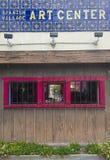 Het Spaanse centrum van de dorpskunst Stock Foto