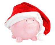 Het spaarvarken van de Kerstman Royalty-vrije Stock Fotografie