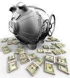 Het spaarvarken van het staal royalty-vrije illustratie
