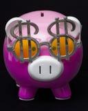 Het Spaarvarken van het Teken van de dollar Stock Afbeeldingen