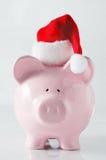 Het Spaarvarken van Kerstmis Royalty-vrije Stock Foto's