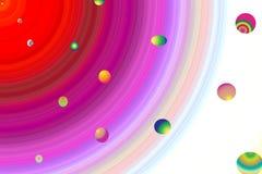 Het Spacialthema wervelt bollen planetarische beweging Royalty-vrije Stock Fotografie