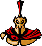 Het Spartaanse/Trojan Embleem van de Mascotte royalty-vrije illustratie