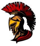 Het Spartaanse/Trojan Embleem van de Mascotte vector illustratie