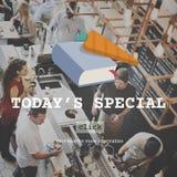 Het Speciale de Maaltijd Speciale Concept van vandaag van het Voedselmenu Royalty-vrije Stock Foto's