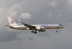 Het speciale kleurenschema van American Airlines Stock Foto