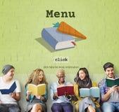 Het Speciale Snelle de Lunchconcept van vandaag van het Receptenmenu Stock Fotografie