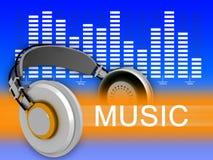Het spectrum van de muziek royalty-vrije illustratie