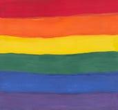 Het spectrum van de waterverf het schilderen Stock Foto