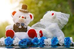 Het speelgoed is berenbruidegom en bruid royalty-vrije stock foto's