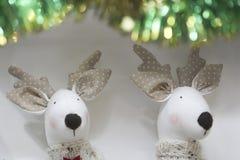 Het speelgoed en de decoratie van Kerstmis Royalty-vrije Stock Afbeeldingen