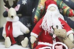 Het speelgoed en de decoratie van Kerstmis Stock Afbeelding