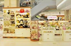 Het speelgoed en de toebehorenwinkel van het meisje Stock Foto's