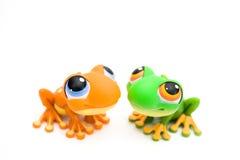 Het speelgoed van de kikker Stock Foto