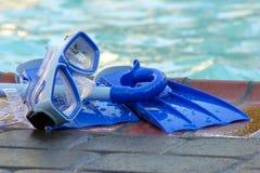 Het speelgoed van de pool stock fotografie
