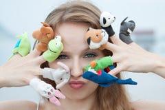 Het Speelgoed van de vinger Stock Afbeelding