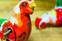 Het speelgoed van het kippentin Stock Foto's