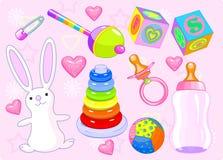 Het speelgoed van het meisje Royalty-vrije Stock Afbeeldingen