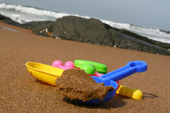 Het Speelgoed van het strand Stock Foto
