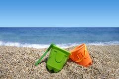 Het speelgoed van het strand (de zomervakantie) Stock Afbeelding