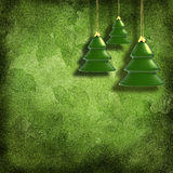 Het speelgoed van Kerstmis op decoratieve grungeachtergrond Stock Foto's
