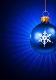 Het speelgoed van Kerstmis op een blauw Royalty-vrije Stock Foto's