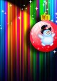 Het speelgoed van Kerstmis. Sneeuwman Royalty-vrije Stock Afbeeldingen