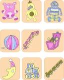 Het speelgoed van kinderen Royalty-vrije Illustratie
