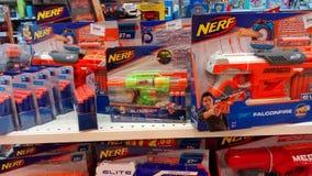 Het speelgoed van het Nerfkanon royalty-vrije stock fotografie