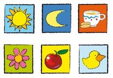 Het speelgoed van pictogrammen Royalty-vrije Stock Afbeelding